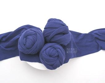 Navy Blue Stretch Wrap - newborn stretchy wrap - texture wrap - gorgeous premium photo wrap