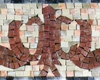 Marble Mosaic Border - Doves