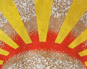 Sunburst Mosaic Decorative Art