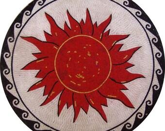 Sun and Waves Medallion - Scilla II