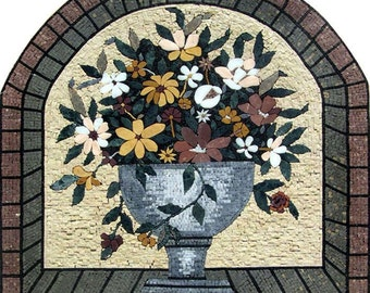 Handmade Floral Arrangement Mosaic