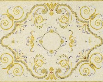 Floral Mosaic Rug - Maia Rectangular