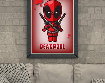 Deadpool Poster Marvel Comic Superhero
