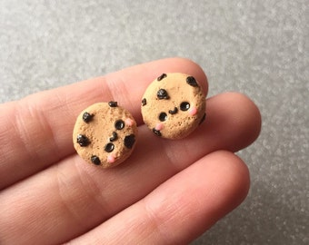 Chocolate Chip Cookie Earrings Stud Earrings Polymer Clay Cookie Earrings Cookie Studs