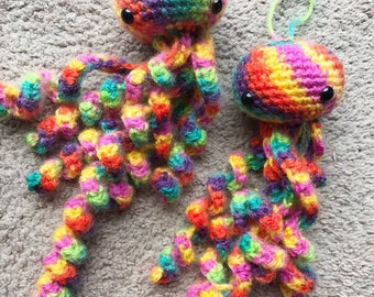 Crochet Jellyfish Amigurumi Jelly fish Stuffed Jellyfish