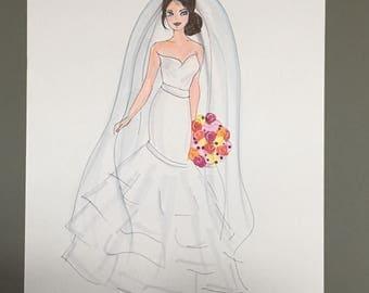 "Fashion Illustration , ""Bride Kay"""