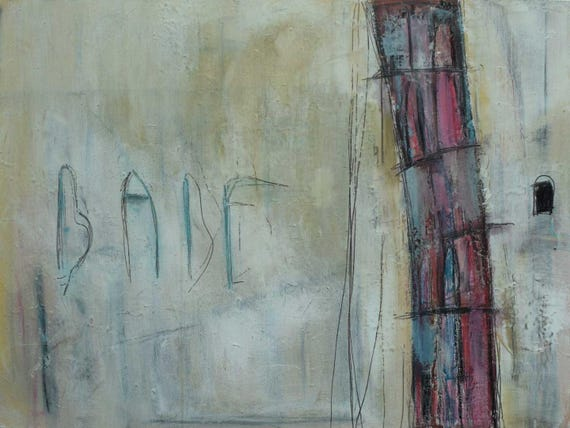 You Will Fail, Babel // Original Contemporary Abstract Painting on Canvas by Artist Jeffrey Bowman