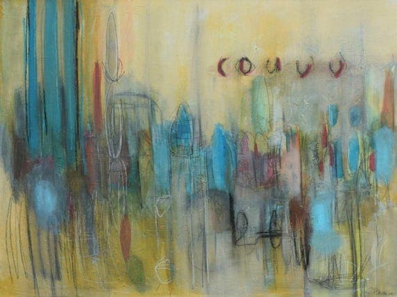 Manos Suaves // Original Contemporary Abstract Painting on Canvas by Artist Jeffrey Bowman