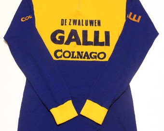 70's vintage Galli Colnago cycling jersey made in Belgium