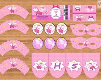 PRINTABLE Birthday Party Kit PEPPA PIG Inspiration