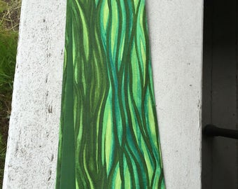 Reversible, green Clergy stole, flowing shades of greens!  Pastor stole, Minister stole for Ordinary time.  A perfect gift!