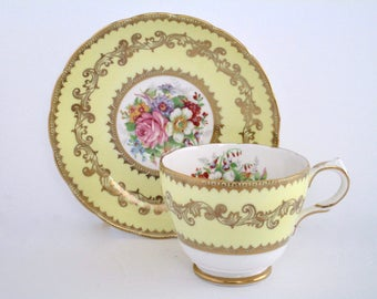 Celebration Sale! Grosvenor England Bone China Tea Cup And Saucer, Vintage Tableware