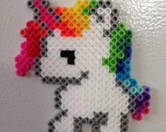 Unicorn Perler Bead Magnet