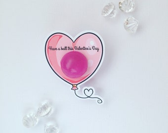 Valentine's Day bouncy ball holders