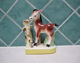 Vintage Ceramic Pony Bookend - 1950's - Horse