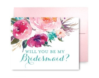 Will You Be My Bridesmaid Card, Bridesmaid Cards, Ask Bridesmaid, Bridesmaid Maid of Honor Gift, Matron of Honor, Flower Girl #CL161