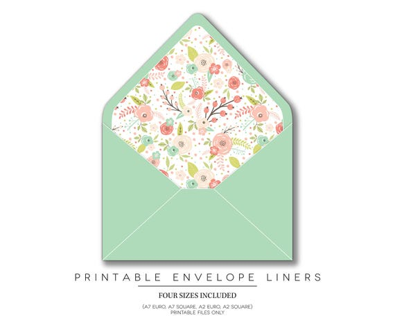 Printable Envelope Liners, Invitations, Envelope Liners, Envelopes