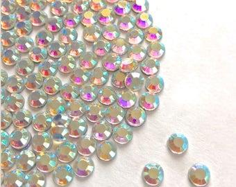 300 Crystal 3mm flatback rhinestone gems diy wedding craft craftmaking cabachons