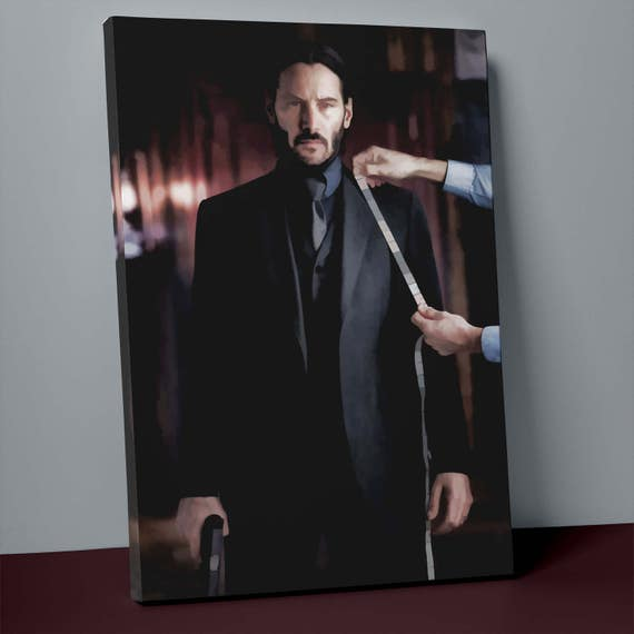 John Wick Chapter Two v4 | Mirror Wrapped Canvas