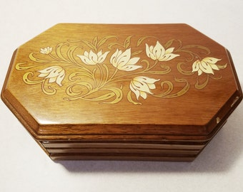 Vintage Wood Jewelry Box
