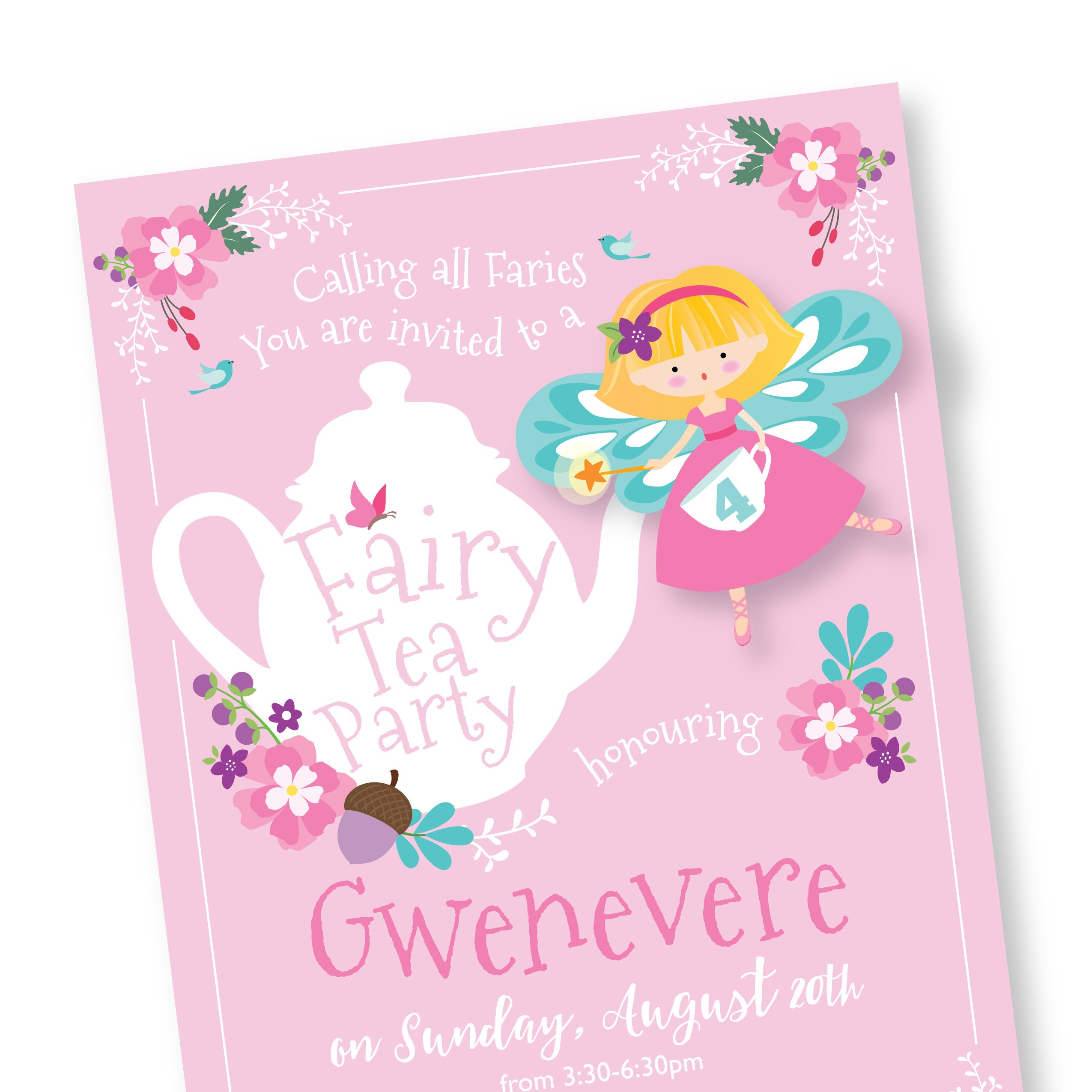 Fairy Tea Party Invitations wedding place cards cheap star wars – Fairy Tea Party Invitations