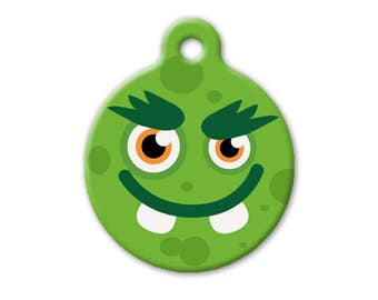 Monster! (mean green) - dog, cat, pet ID TAG
