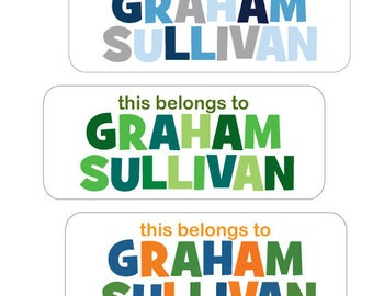 Name Labels, Boy, Waterproof, Dishwasher Safe, Baby Bottle Labels, Daycare Labels, School Labels