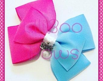 Handmade Make It Pink, Make It Blue Aurora Sleeping Beauty Inspired Hair Bow
