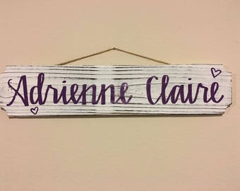 Personalized painted sign