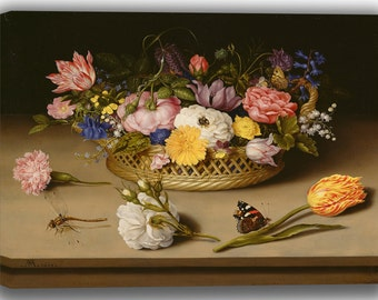 Ambrosius Bosschaert: Flower Still Life. Fine Art Canvas. (04126)
