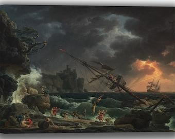Claude Joseph Vernet: The Shipwreck. Fine Art Canvas. (04143)