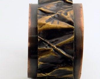 Copper and Brass Cuff Bracelet - Copper and Brass Fold Formed Cuff Bracelet