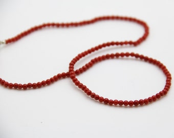 Necklace in CORAIL Corsica certified 1st choice
