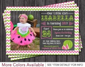 Watermelon Birthday Invitation - Watermelon Invitations