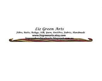"KnitPro ""Symfonie"" Double Ended Crochet Hooks ~ Individual Hooks, 3.00mm - 10.00m Liz Green Arts Afghan Rug Hooking Craft Weaving Supplies"