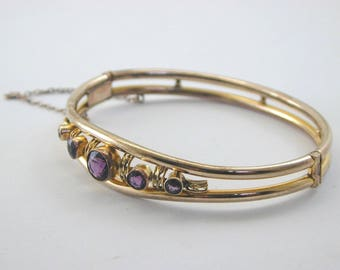 Art deco amethyst paste bangle stunning design gr8 example of early costume.