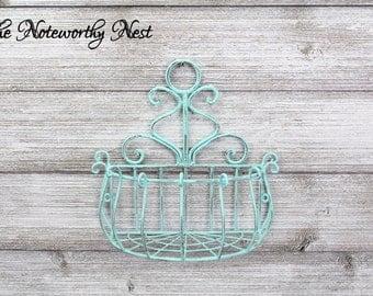 ANY COLOR Metal basket / bathroom organization / bedroom organization / Shabby Decor Bathroom / Farmhouse Decor/ Wire Basket / Nursery Decor