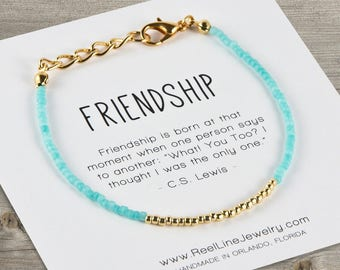 Modern GOLD Friendship Bracelet, Best Friend Gift, Best Friend Friendship Bracelet, Friendship Bracelet, Best Friend Bracelets, Friend Gift
