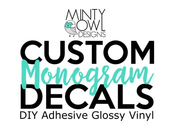 Custom Monogram Vinyl Decal - Stickers - Tumbler - Yeti - RTIC - DIY - Do It Yourself - Wall Decor - Car - Mug - Journal - Personalized Gift