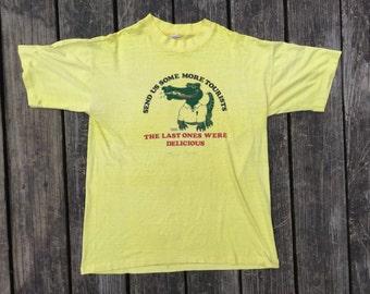 THIN and SOFT Vintage Tee, Florida Tourist Tee, Medium, 1980's