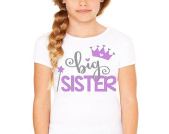 Big Sister Shirt // Big Sister Tshirt // Big sister // Little Sister Shirt // Little Brother Shirt // Big Sister Girl Shirt // Crown Shirt