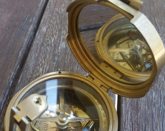 Clinometer Compass Made in London, purchased in India