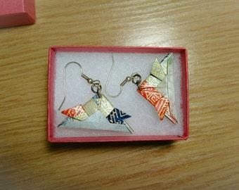 Samurai origami chapeau boucles d'oreilles