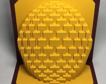 9x9 Obloid : kirigami pop-up paper sculpture