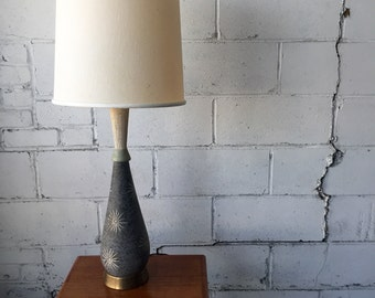 Mid century modern ceramic table lamp