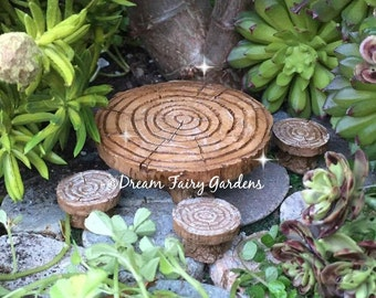 Fairy garden table, miniature table and chairs, fairy table and chairs, fairy garden dining, miniature furniture, fairy furniture