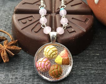 Pan Dulce Necklace ~ Mexican Sweet Bread ~ Conchas ~ Mexican Jewelry
