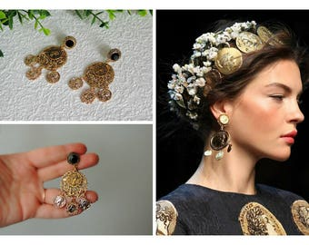 Earrings  Dolce style  - Ancient Greece