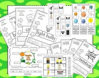 Preschool Science Curriculum Download. Preschool-Kindergarten. Worksheets and Activities in PDF files.