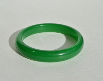Vintage Green Jade Jadeite Bangle Bracelet 15 mm